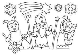 Čert,Mikuláš a anděl