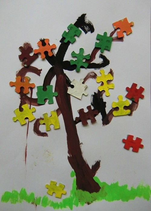 puzzlový strom