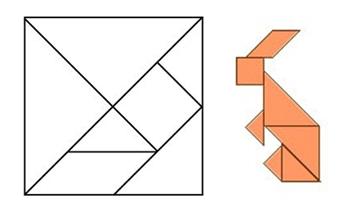 tangram zajíc