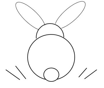 zajíc kresba