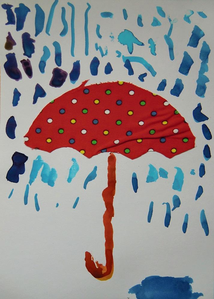 deštník a déšt
