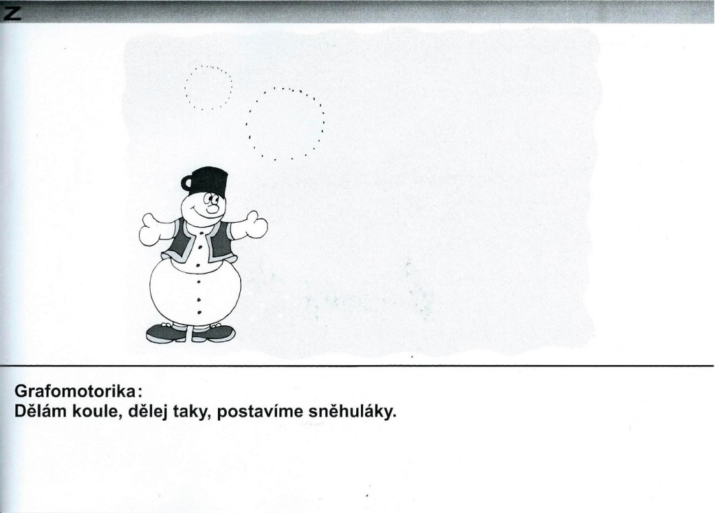 Grafomotorika-koule pro sněhuláka