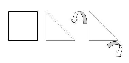 origami sněženka