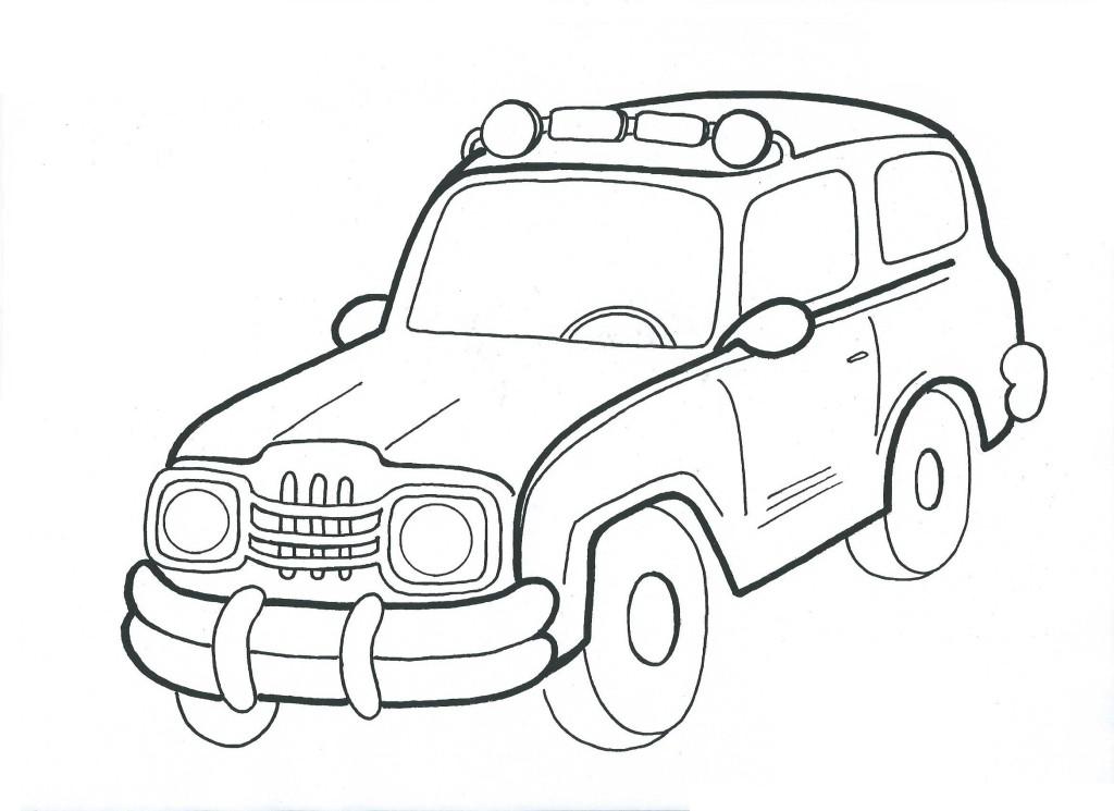 auto jeep-omalovánka