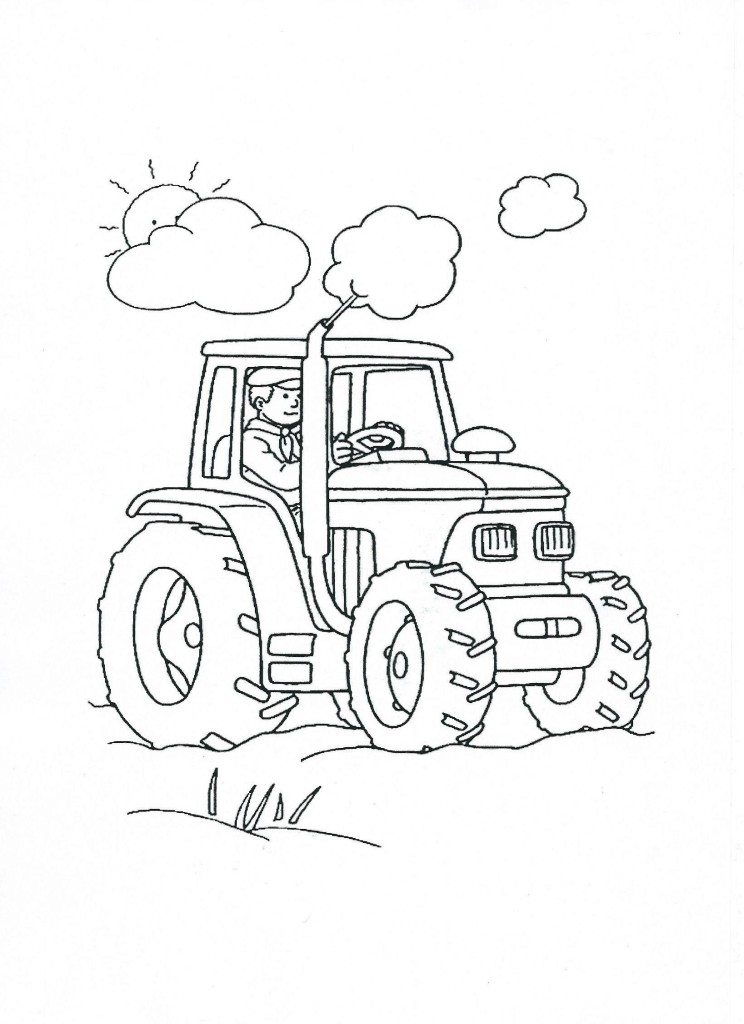 traktor omalovánka