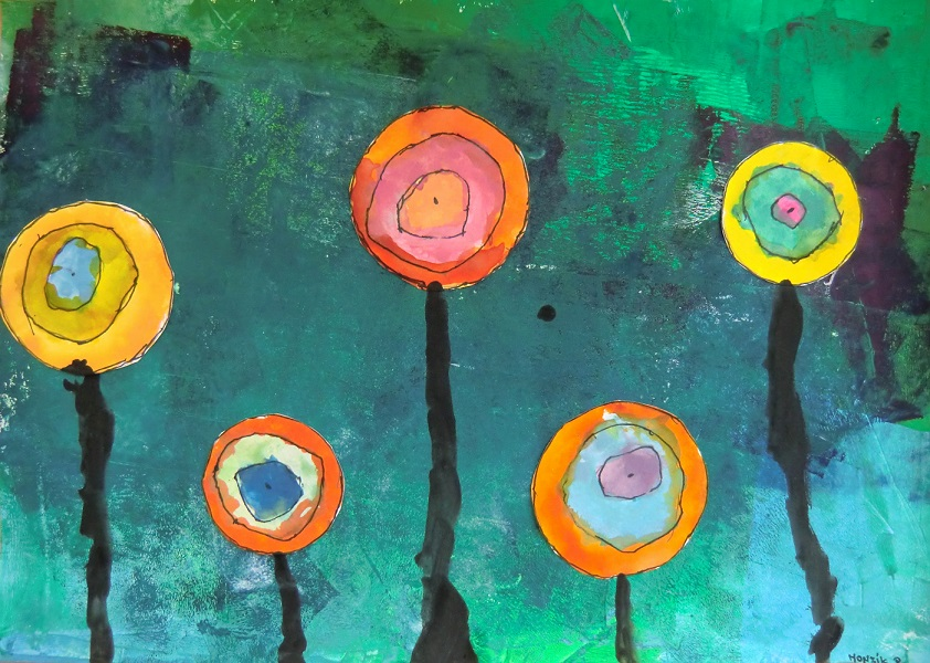 Hunderwasserovi květiny2
