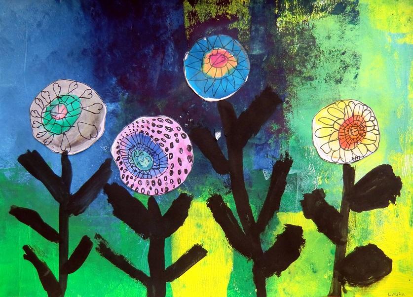 Hunderwasserovi květiny3
