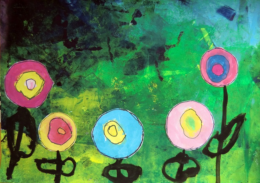 Hunderwasserovi květiny7
