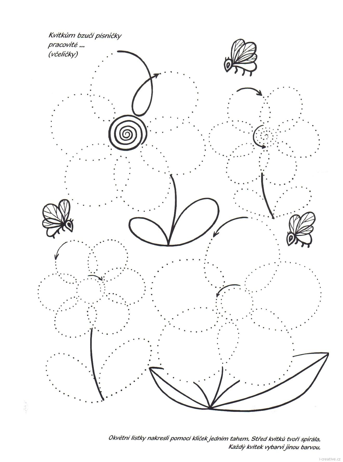 Kvetiny Jednim Tahem Vytvarna Vychova