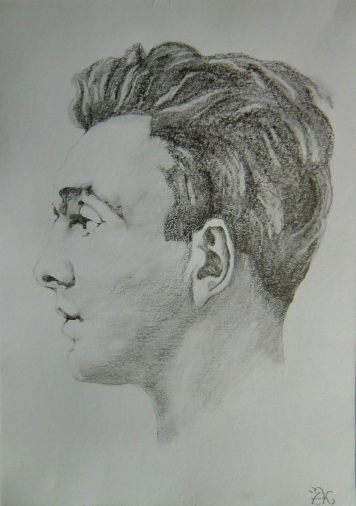 Kreslení pravou mozkovou hemisférou-skicář