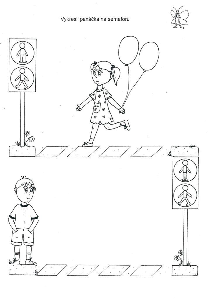 Panáček na semaforu