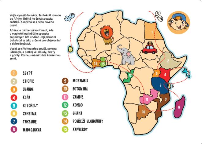 Afrika-Vojta jede kolem světa